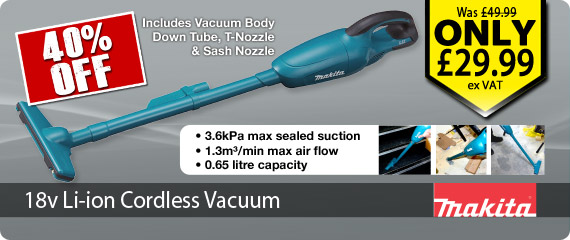 18v Li-ion Vacuum Cleaner Body