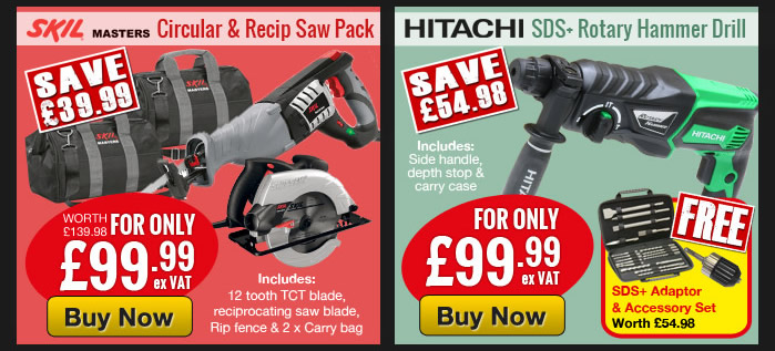 Skil Masters Circular Recip Saw Pack and Hitachi SDS Rotary Hammer Drill