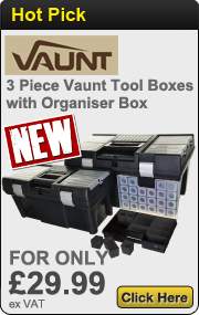 3 Piece Vaunt Tool Boxes with Organiser Box