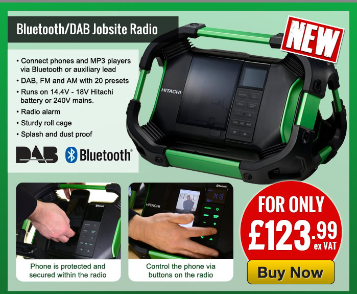 Hitachi 14.4v-18v Bluetooth & DAB Cordless Radio