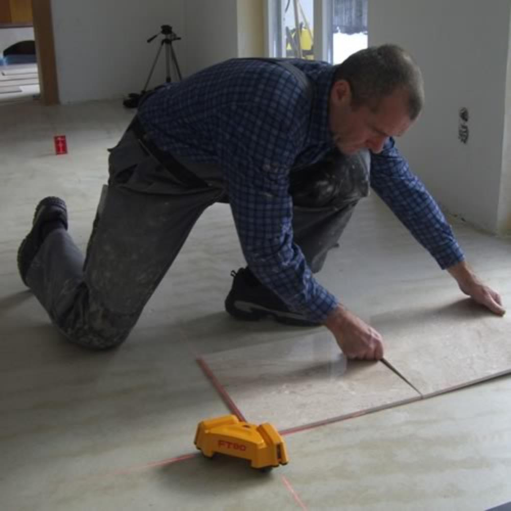 Laying out a tile floor