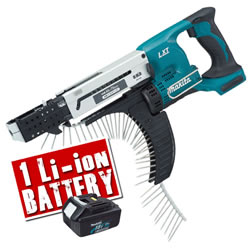 BFR750ZBL Makita 18v Li-ion Autofeed Screwgun Body + Battery MAKBFR750ZBL