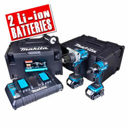 MAKDLX2040SPE  18v Li-ion Anniversary 2 Piece Kit with Twin Charger