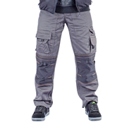 APKHT Apache Pollycotton Work Trousers with Holster Pockets (Grey/Black) APAAPKHT
