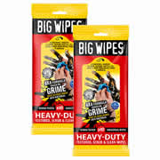 Big Wipes 2424PK2 BIG Wipe 4x4 Heavy Duty 40 Wipe Sachet - Twinpack