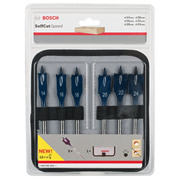 Bosch 2608595424 Bosch SELFcut 6 Piece Speed Flat Drill Bit Set, Hex Shank