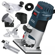 "Bosch GKF600KIT Bosch 1/4"" Palm Router Kit"