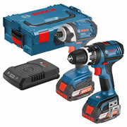 Bosch DSGSBGDR18W Bosch 18v PRO Twin Pack with Wireless Charger