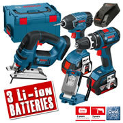 Bosch LBOXX4KIT Bosch 18v 4.0Ah Lithium-ion Cordless 4 Piece Kit