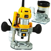 "Dewalt D26204K Dewalt Combination Router -  Plunge & Fixed Base 1/4"" Shank"