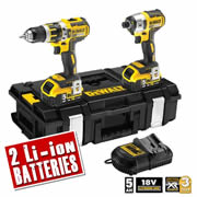 Dewalt DCK250P2 Dewalt 18v XR 5.0Ah Li-ion Brushless 2 Piece Kit - 2 Batteries