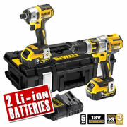 Dewalt DCK255P2 Dewalt 18v XR 5.0ah Li-ion Brushless 2 Piece Kit