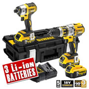 Dewalt DCK255P3 Dewalt 18v XR 5.0ah Li-ion Brushless 2 Piece Kit - 3x Batteries
