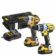 Dewalt DCK276M2 Dewalt 18v XR 4.0Ah Li-ion Brushless 2 Piece Kit - 2 Batteries