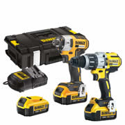 Dewalt DCK276M3 Dewalt 18v XR 4.0Ah Li-ion Brushless 2 Piece Kit - 3 Batteries