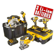 DCK550M3T Dewalt 18v Lithium-Ion 5 Piece Package DEWDCK550M3T
