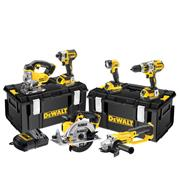 Dewalt DCK694M3 Dewalt 18v Li-ion Cordless 6 Piece Kit (Brushless Drill and Driver)