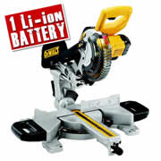 Dewalt DCS365N4 Dewalt 18v Li-ion Cordless Mitre Saw with XPS - Body + 1 x 4.0Ah Battery