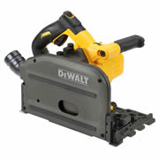 Dewalt DCS250NT Dewalt 54v XR FLEXVOLT Li-ion Plunge Saw - Body Only + 2 x Guide Rails