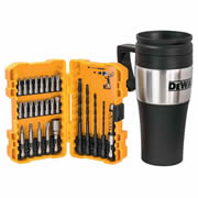 Dewalt DT71580QZ Dewalt 27 Piece Screwdriving Set With Thermo Mug