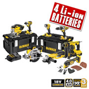 Dewalt XR8KITA Dewalt 18v 4.0Ah XR Li-ion 8 Piece Kit