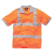 Dickies SA42075 Dickies Hi-Vis Polo Shirt (Orange)