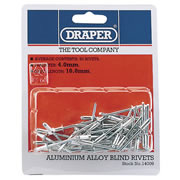 Draper 14009 (RIV) Draper Aluminium Blind Rivets (4.0mm) Pack of 50