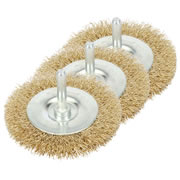 Draper 41429PACK (342P) Draper 75mm Rotary Wire Brush 3 Piece Pack
