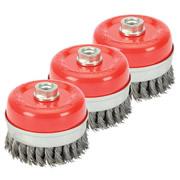 Draper 80mm Twist Knot Wire Cup Brush Pack of 3