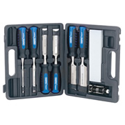 Draper 88605 (WCS8/SG) Draper 8 Piece Soft Grip Wood Chisel Set