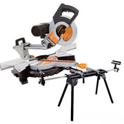 Evolution RAGE3DBPK Rage 3DB Multipurpose Slide Mitre Saw & Legstand Pack