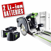 Festool HKC 55 Li 5.2 EB-PLUS Festool 18v 55mm Circular Saw with 1400mm Guide Rail