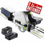 Festool TSC 55 REB-PLUS Festool 18v 55mm Circular Plunge Saw - 5.2Ah