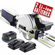 Festool TSC55 REB PLUS XL Festool 18v 55mm Circular Plunge Saw - 5.2Ah