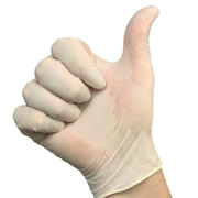Guardsman LDNPP Latex Disposable Gloves (Box 100)