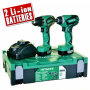 Hitachi KC10DFL2 Hitachi 10.8v Li-ion 2 Piece Kit