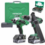 Hitachi KC18DKL/JB Hitachi 18v Li-ion Cordless 5.0Ah 2 Piece Kit