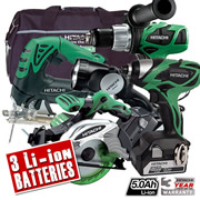 Hitachi KTL518S/JJ3 Hitachi 18v 5.0Ah Lithium-ion 5 Piece Cordless Kit