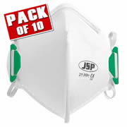 JSP BEA110-101-000 JSP OLYMPUS FoldFlat Disposable Dust Mask FFP1- Non Valved PK10