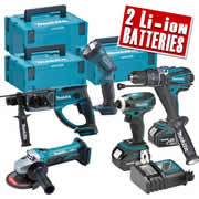 Makita 5BFJ Makita 18v Li-ion 5 Piece Kit