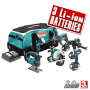 6SETB Makita 18V Lithium-ion Cordless 6 Piece Kit MAK6SETB