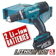 BHP453RFE Makita 18v Li-ion 2 Speed Hammer Drill Driver MAKBHP453RFE