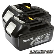 Makita BL1830-PK2 Makita Battery (18 Volt) 3.0ah Li-ion (Twinpack)