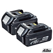 Makita BL1840PK2 Makita Battery 18v 4.0ah Lithium-ion Twinpack