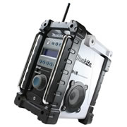 BMR101W Makita DAB Job Site Radio White MAKBMR101W