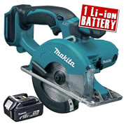Makita DCS550Z5 Makita 18v Li-ion Metal Cutting Saw Body + 1 x 5.0Ah Battery