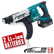 Makita DFR550RME Makita 18v Li-ion Autofeed Screwgun
