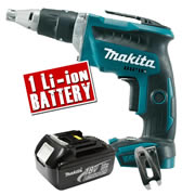 Makita DFS452-Z3 Makita 18v Li-ion Brushless Drywall Screwdriver Body + 1 x 3.0Ah Battery