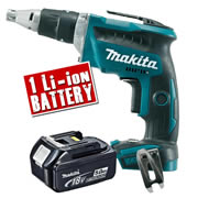 Makita DFS452Z5 Makita 18v Li-ion Brushless Drywall Screwdriver Body + 1 x 5.0Ah Battery