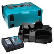 Makita DFSSC Makita Stackable Case, Drywall Screwdriver Inlay and Charger